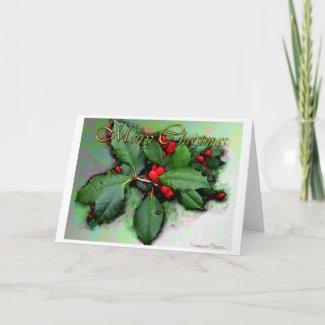 Christmas-blank card card