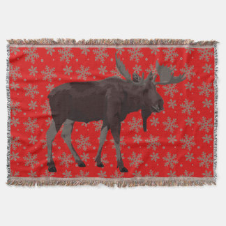 Christmas Blanket Holiday Moose Throw Blankets