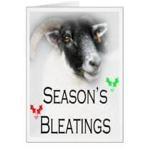Christmas Bleatings Sheep Card