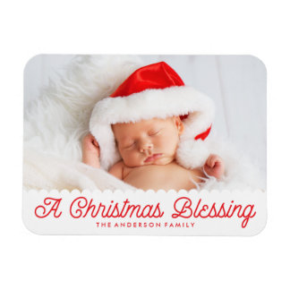 Christmas Blessing | Holiday Photo Magnet