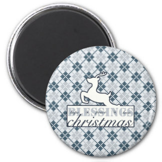 Christmas Blessing 2 Inch Round Magnet