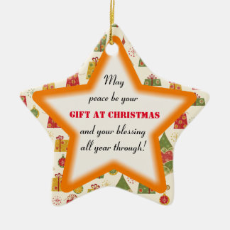Christmas Blessing Peace Star Ornament