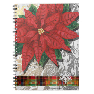 Christmas Blessing Poinsettia Notebook
