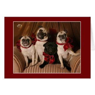 Christmas Blessing Pug Mug Cards