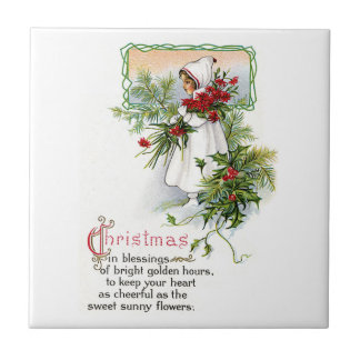 Christmas Blessing Tile