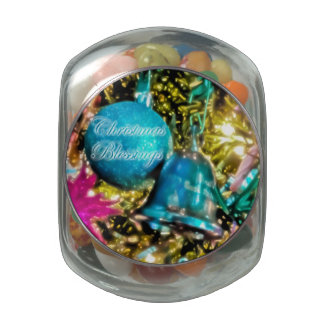 Christmas Blessings Candy Jar Glass Candy Jar