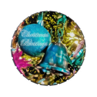 Christmas Blessings Large Candy Tin