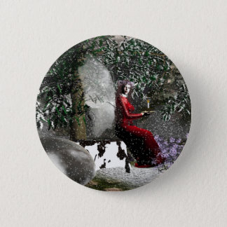 Christmas-Blessings Pinback Button