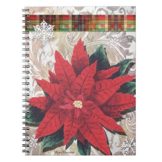 Christmas Blessings Poinsettia Notebook