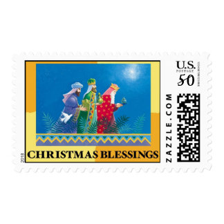 CHRISTMAS BLESSINGS Postage Stamp