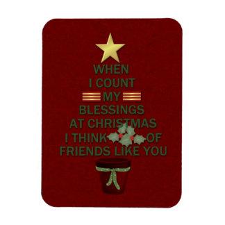 Christmas Blessings Rectangular Photo Magnet