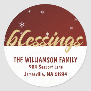 blessed christmas stickers zazzle