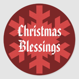 """""""Christmas Blessings"""" Snowflake [1] Classic Round Sticker"""