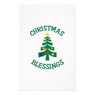 CHRISTMAS BLESSINGS STATIONERY DESIGN