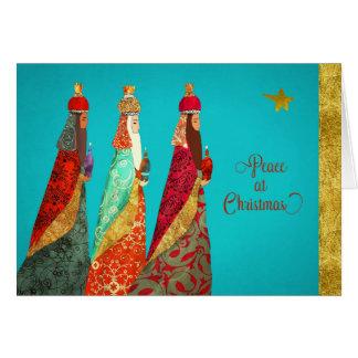 Christmas Blessings, Three Magi Greeting Card
