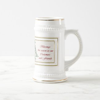 Christmas blessings to customer from business xmas mugs