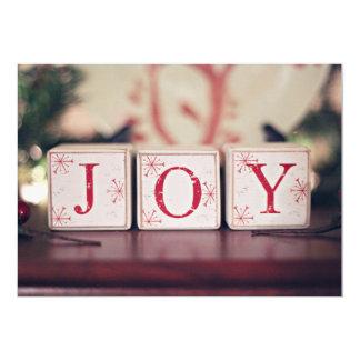 Christmas blocks with words JOY Card