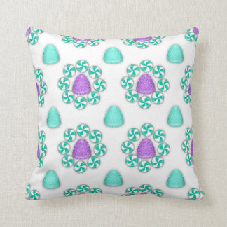 Christmas Blue and Purple Gumdrops Lumbar Pillow