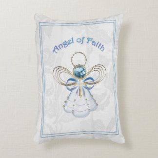 Christmas Blue Filigree Angel of Faith Decorative Pillow