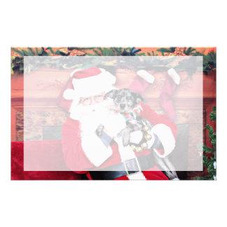 Christmas - Blue Heeler - B Elana Personalized Stationery