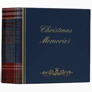 "Christmas Blue Plaid 2"" Photo Album 3 Ring Binder"