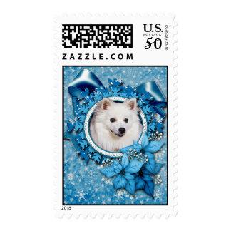 Christmas - Blue Snowflake - American Eskimo Postage