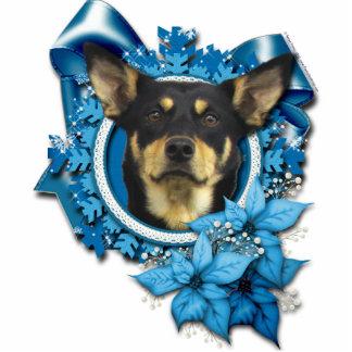 Christmas - Blue Snowflake - Australian Kelpie Cutout