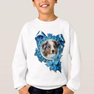 Christmas - Blue Snowflake - Australian Shepherd Sweatshirt