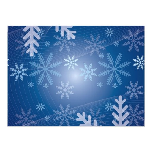 Christmas Blue Snowflake Background Custom Announcements