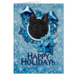 Christmas - Blue Snowflake - Cairn Terrier - Rosco Cards