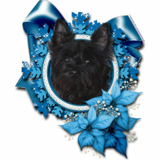 Christmas - Blue Snowflake - Cairn Terrier - Rosco Photo Sculpture Ornament