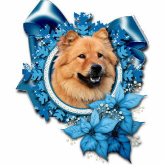 Christmas - Blue Snowflake - Chow Chow - Cinny Acrylic Cut Outs