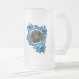 Christmas - Blue Snowflake - Dachshund - Winston Coffee Mug