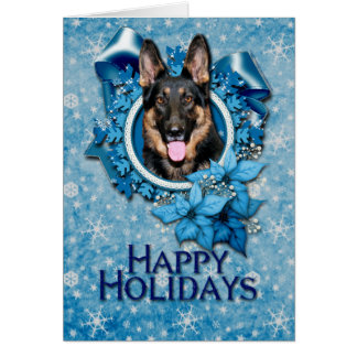 Christmas - Blue Snowflake -German Shepherd - Kuno Card
