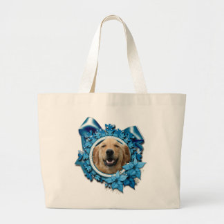 Christmas - Blue Snowflake - Golden Retriever Bag