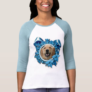 Christmas - Blue Snowflake - Golden Retriever T Shirt