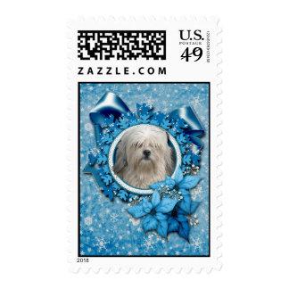 Christmas - Blue Snowflake - Lowchen Postage