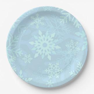 Christmas Blue Snowflake Paper Plates 9 Inch Paper Plate  sc 1 st  Castrophotos & Paper Plate Snowflakes - Castrophotos