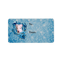 Christmas - Blue Snowflake - Pitbull - Petey Label