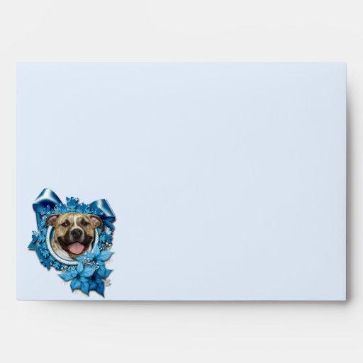 Christmas - Blue Snowflake - Pitbull - Tigger Envelope