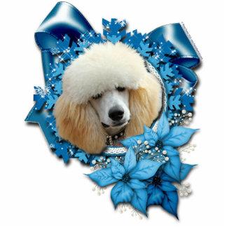 Christmas - Blue Snowflake - Poodle - Apricot Photo Cut Outs