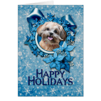 Christmas - Blue Snowflake - ShihPoo - Maggie Card