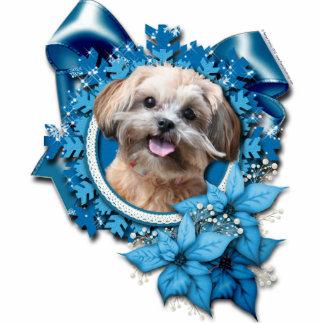 Christmas - Blue Snowflake - ShihPoo - Maggie Photo Sculpture Ornament