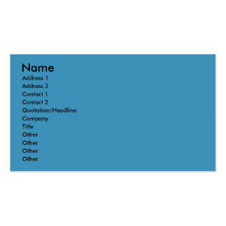 Christmas - Blue Snowflakes - Bulldog Double-Sided Standard Business Cards (Pack Of 100)