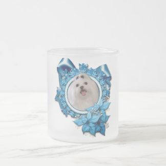 Christmas - Blue Snowflakes - Maltese Coffee Mug