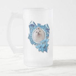 Christmas - Blue Snowflakes - Maltese Mugs