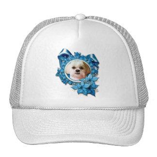 Christmas - Blue Snowflakes - Shih Tzu - Williams Mesh Hats