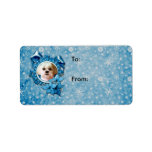 Christmas - Blue Snowflakes - Shih Tzu - Williams Personalized Address Labels
