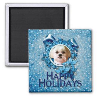 Christmas - Blue Snowflakes - Shih Tzu - Williams Magnet