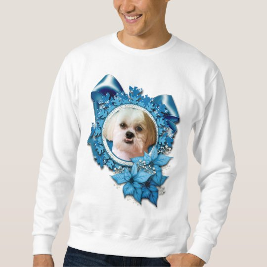 Christmas - Blue Snowflakes - Shih Tzu - Williams Sweatshirt